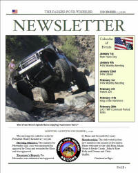 Parker 4 Wheelers December 2010 Newsletter