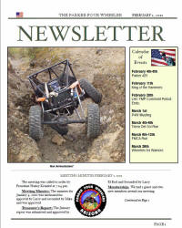 Parker 4 Wheelers February 2011 Newsletter
