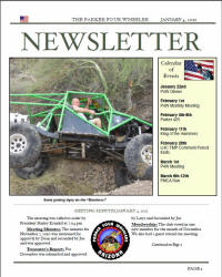 Parker 4 Wheeler January 2011 Newsletter