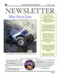 Parker 4 Wheelers July 2010 Newsletter