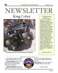 Parker 4 Wheelers June 2010 Newsletter
