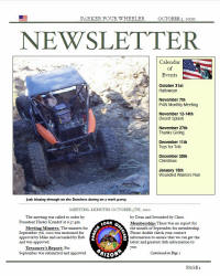 Parker 4 Wheelers October 2010 Newsletter