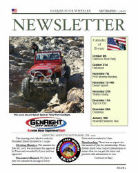 Parker 4 Wheelers September 2010 Newsletter